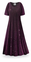 SOLD OUT! Purple Glimmer Slinky Plus Size Supersize Jackets & Dresses