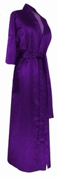 CLEARANCE! Purple Lightweight Plus Size Satin Robe 2x