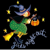 FINAL SALE! Purple or Black Girls Night Out! Halloween Witch Plus Size T-Shirts XL