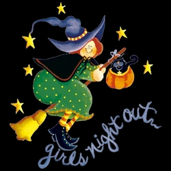 FINAL SALE! Purple or Black Girls Night Out! Halloween Witch Plus Size T-Shirts 6X
