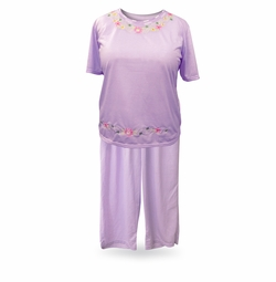 SOLD OUT! Purple or Lavender Light Weight Capri Pajama/Lounge Set