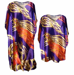 SOLD OUT! Purple, Orange, Gold Poly/Satin Plus Size & Supersize Caftan Dress or Shirt 1x to 6x