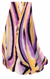 SOLD OUT! SALE! Purple Print Slinky Print Plus Size & Supersize Skirts - Sizes Lg to 9x