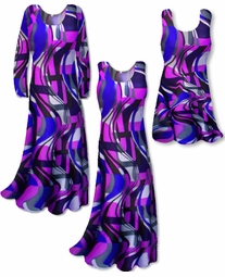 SOLD OUT! SALE! Purple Slinky Geometric Yummy Plus Size & Supersize  A-Line Tank Top 9x