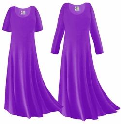 SOLD OUT! SALE! Purple Slinky Plus Size & Supersize Sleeve Dress 4x