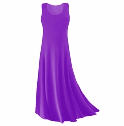 SOLD OUT! SALE! Purple Slinky Plus Size & Supersize Tank Dress 3x
