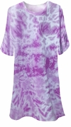 SOLD OUT! FINAL CLEARANCE SALE! Purple Tie Dye Plus Size T-Shirts 6x