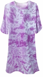 CLEARANCE! Purple Tie Dye Plus Size T-Shirts xl