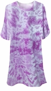 FINAL CLEARANCE SALE! Purple Tie Dye Plus Size T-Shirts XL