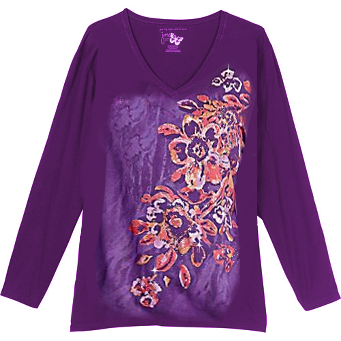 sold out sale purple tribal club glittery floral print