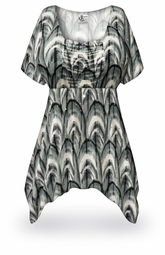 SOLD OUT! SALE! Radiance Print Plus Size & Supersize Babydoll Top 5x