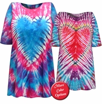 SALE! Rainbow Heart Tie Dye Plus Size T-Shirt  L XL 2x 3x 4x 5x 6x
