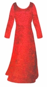 SOLD OUT! SALE! Red Crush Velvet Plus Size & Supersize Sleeve Dress  7x