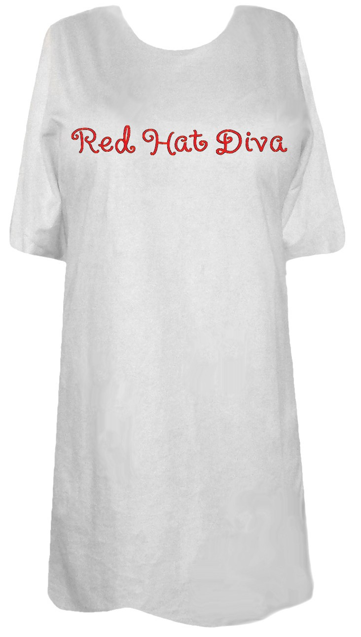 Sale Red Hat Diva Plus Size Supersize T Shirts S M L