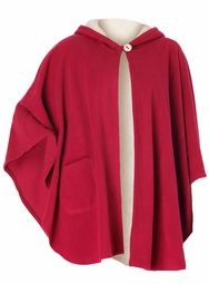 SALE! Red Hooded Cape-Style Microfleece Plus Size Robe 3x