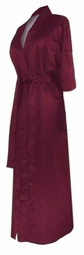 SOLD OUT! CLEARANCE! Burgundy Lightweight Plus Size Satin Robe 3x 6x