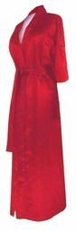 SOLD OUT! CLEARANCE! Red Lightweight Plus Size Satin Robe 3x