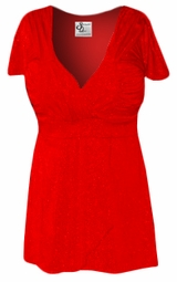 SOLD OUT! SALE! Red Magic Babydoll Slinky Plus Size & Supersize Shirt 8X