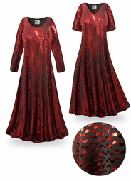 SOLD OUT! SALE! Red Moon Slinky Print Plus Size & Supersize Short or Long Sleeve Dresses & Tanks 5x