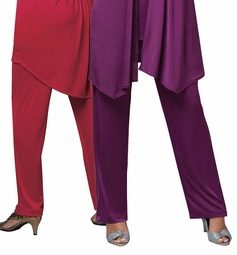 SOLD OUT! SALE! Red or Purple Straight Leg Plus Size Slinky Pants 4x 5x