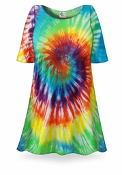 SALE! Classic Rainbow Swirl Tie Dye Plus Size & Supersize X-Long T-Shirt 0x 1x 2x 3x 4x 5x 6x 7x 8x