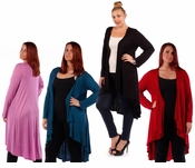 SALE! Red, Plum, Teal, Black, or Lilac Knitted Sweater Coverup Cardigan Plus Size Jackets 4x