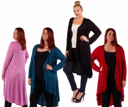 SALE! Red, Plum, Teal, Black, or Lilac Knitted Sweater Coverup Cardigan Plus Size Jackets 4x 6x
