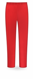 SOLD OUT! SALE! Red Poly/Cotton Plus Size & Supersize Long Tapered Pants 6x