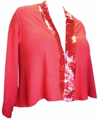 SOLD OUT! SALE! Red Red Red Sequins Plus Size Cropped Jacket 3x 4x 22/24 26/28