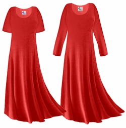 SOLD OUT! SALE! Red Slinky Plus Size & Supersize Long Sleeve Dress 2x