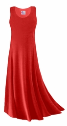 CLEARANCE! Red Slinky Plus Size & Supersize Tank Dress 2x