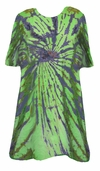 CLEARANCE! Plus Size Red or Lime Green & Navy Swirl Tie Dye T-Shirts 5xl