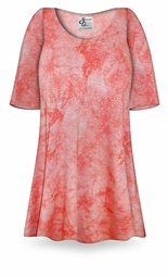 SOLD OUT! ! Ribbed Melon Tie Dye Print Plus Size & Supersize Extra Long T-Shirt 0x to 9x