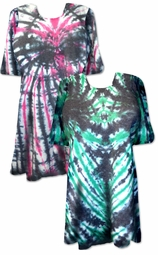 SOLD OUT! CLEARANCE! Rock Beats Green & Black Tie Dye Plus Size T-Shirt  5xl