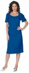 SALE! Royal Blue Cap Sleeve Color Mix Sheath Plus Size Dress 5x/34