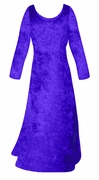 SOLD OUT! SALE! Royal Blue Crush Velvet Plus Size & Supersize Sleeve Dress 6x
