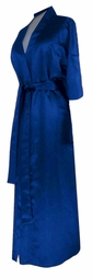 CLEARANCE! Royal Blue Lightweight Plus Size Satin Robe 1x 3x
