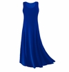 CLEARANCE! Royal Blue Slinky Plus Size & Supersize Tank Dress 0x
