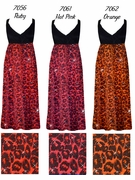 CLEARANCE! Hot Pink Glitter Leopard Glimmer Plus Size Slinky Black Empire Waist Dress 3x 5x