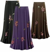 CLEARANCE! Painterly Florals Slinky Print Plus Size Supersize Skirt 0x 2x 3x 4x
