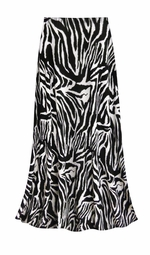 CLEARANCE! Zebra Slinky Print Plus Size Supersize Skirt 1x