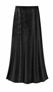 SOLD OUT! CLEARANCE! Black Velvet Python Print Plus Size Supersize Skirt 4x