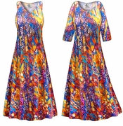 CLEARANCE! Color Infusion Slinky Print Plus Size & Supersize Dress 4x