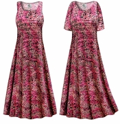 CLEARANCE! Raspberry Fields Slinky Print Plus Size & Supersize Dress XL