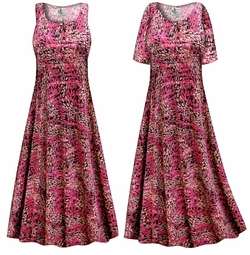 FINAL CLEARANCE SALE! Raspberry Fields Slinky Print Plus Size & Supersize Dress XL 1x
