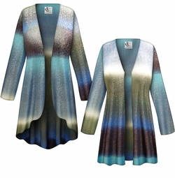 CLEARANCE! Tide Glimmer Slinky Print Plus Size & Supersize Jackets & Dusters - Size 4x