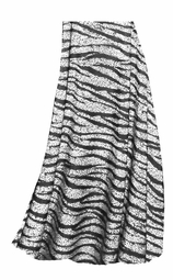SOLD OUT! CLEARANCE! White With Black Zebra Stripes With Dots Slinky Print Plus Size Supersize Skirt 6x