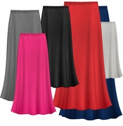 FINAL CLEARANCE SALE! Solid Color POLY/COTTON Plus Size Supersize Skirt 1x 3x 4x 6x