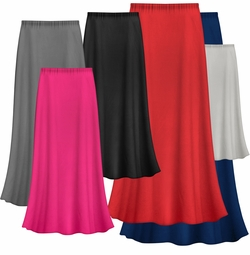 FINAL CLEARANCE SALE! Solid Color POLY/COTTON Plus Size Supersize Skirt 1x 2x 4x 5x 6x 7x