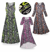 SOLD OUT! CLEARANCE! Safari Slinky Print Plus Size & Supersize Dresses  1x Pink